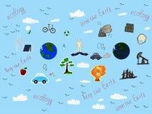 Ecologie en verontreiniging op de planeet Royalty-vrije Stock Afbeeldingen