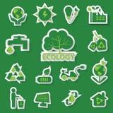 Ecologie groen pictogram Stock Foto