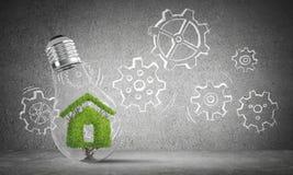 Ecologie recycling en ecobouw concepten Stock Fotografie