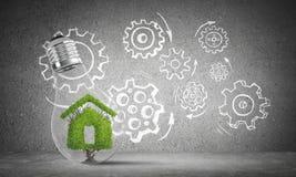 Ecologie recycling en ecobouw concepten Royalty-vrije Stock Afbeeldingen