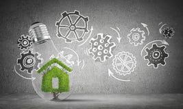 Ecologie recycling en ecobouw concepten Stock Afbeelding