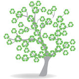 Ecologie. A tree about ecological developpment and recycling Royalty Free Stock Images