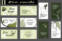 Ecologieachtergronden voor adreskaartjes Stock Afbeelding