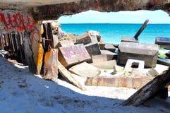 Ecologieblokken van de Golfbreker: Fremantle, Westelijk Australië stock fotografie