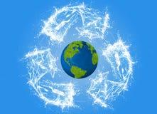 Ecologieconcept, eco, digitaal art. Royalty-vrije Stock Afbeelding