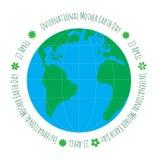 Ecologieconcept met aarde Stock Foto