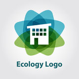 Ecologieembleem, technologie-huis Stock Afbeeldingen