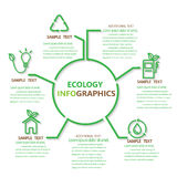 Ecologieinfographics Stock Afbeelding