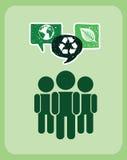 Ecologieontwerp stock illustratie