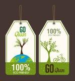 Ecologieontwerp, vectorillustratie Stock Foto