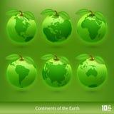 Ecologieplaneet Vector Royalty-vrije Stock Fotografie