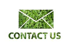 Ecologisch contacteer ons symbool Stock Fotografie