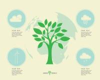 Ecologisch en bewaar de groene wereld Royalty-vrije Stock Afbeeldingen