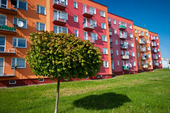 Ecologisch flatgebouw stock foto's