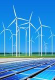 Ecologisch goedaardige windturbines royalty-vrije stock afbeelding