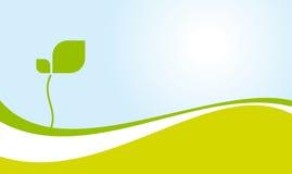 Ecologisch groene landschapsvector Royalty-vrije Stock Fotografie
