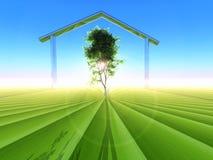 Ecologisch huis Stock Foto
