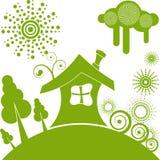 Ecologisch huis Stock Foto's