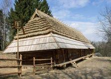 Ecologisch huis in het hout Royalty-vrije Stock Foto