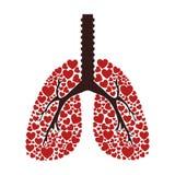 Ecologisch longen geïsoleerd pictogram royalty-vrije illustratie