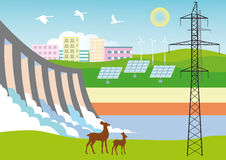 Ecologisch schone Energie Stock Fotografie