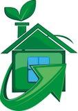 Ecologisch schoon huis Royalty-vrije Stock Afbeelding