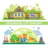 Ecologisch stadsconcept vector illustratie