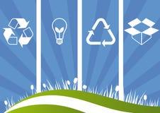 Ecologische Achtergrond Stock Afbeelding