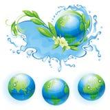 Ecologische achtergrond met de bol. Stock Afbeeldingen