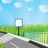 Ecologische achtergrond. Vector illustratie Stock Foto