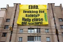 Ecologische actie van Greenpeace Stock Foto's