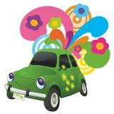 Ecologische auto. vector illustratie