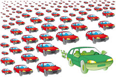 Ecologische auto Royalty-vrije Stock Fotografie