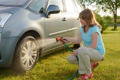 Ecologische autowasserette Stock Afbeelding