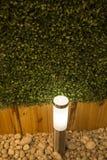 Ecologische elektrische gloeilamp in een tuin stock foto's
