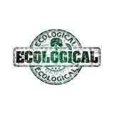 Ecologische grunge rubberzegel Stock Afbeeldingen