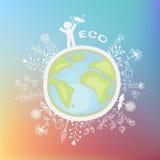 Ecologische illustratie Royalty-vrije Stock Foto's