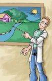 Ecologische leraar Vector Illustratie