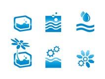Ecologische pictogrammen Stock Foto's