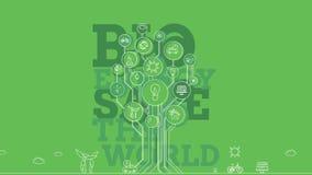 Ecologische Pictogrammenbomen 4K royalty-vrije illustratie