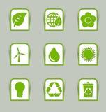 Ecologische pictogramstokken Royalty-vrije Stock Foto