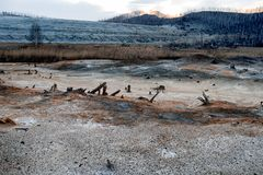 Ecologische ramp in de stad van Karabash, de vuilste plaats op de planeet Stock Foto