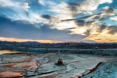 Ecologische ramp in de stad van Karabash, de vuilste plaats op de planeet Royalty-vrije Stock Foto's