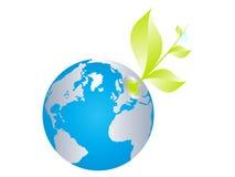 Ecologische wereldbol Royalty-vrije Stock Foto's