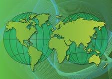 Ecologische wereldkaart Royalty-vrije Stock Foto's