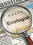 Ecologist Hiring Now. 3D. Royalty Free Stock Photography