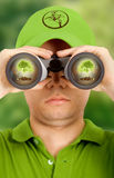 Ecologist searching for protec Royalty Free Stock Photo