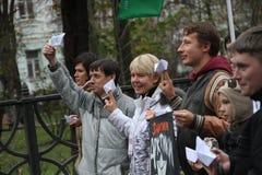 Ecologista ruso Yevgeniya Chirikova Imagen de archivo libre de regalías
