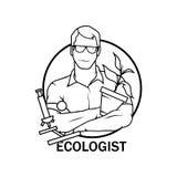 Ecologo Icon dell'illustrazione di vettore ecologo royalty illustrazione gratis