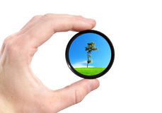 Ecology. Future ecological encirclement in our hand Royalty Free Stock Image